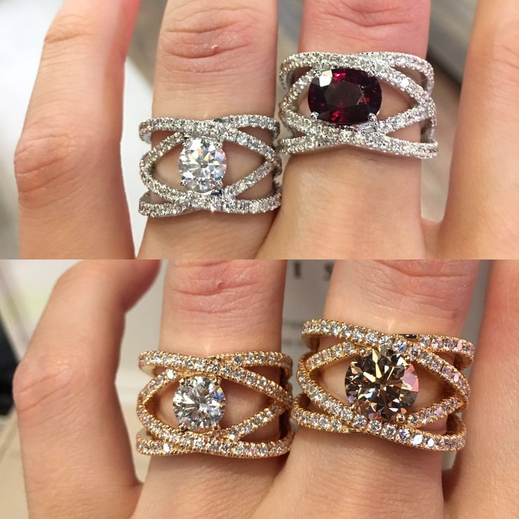 White gold or pink gold? Diamond or champagne diamond or rubellite ? Which one would you buy for yourself ? #waskoll #paris #2017 #diamond #rubellite #champagnediamonds #whitegold #pinkgold #ring