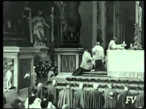 ▶ Mass In Vatican With Pope Pius XII - YouTube