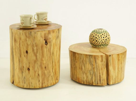 Tree Stumps table tree trunks set rustic tree by FreeTreeStudio | see more at https://www.etsy.com/people/FreeTreeShop