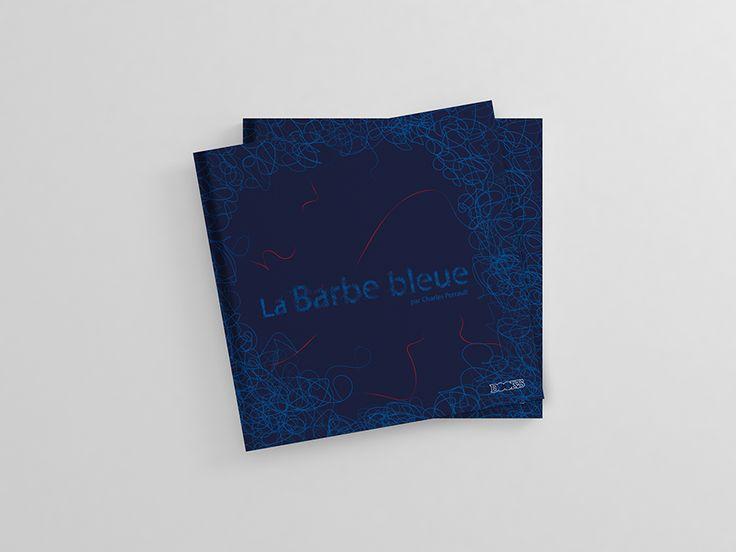 Barbe bleue | Création de l'illustration de la page de couverture. Élaboration de la mise en page texte et images.