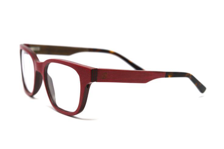 Red Wood Eyeglass Frames for Prescription Lenses