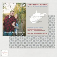 Missionary Prayer Card | Mission Fundraising | Mission Trip Card | Christian Evangelism by HarvestJoyDesigns