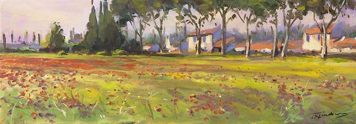 Poppy Field at Capestang by James Somerville Lindsay | Edinburgh Arts
