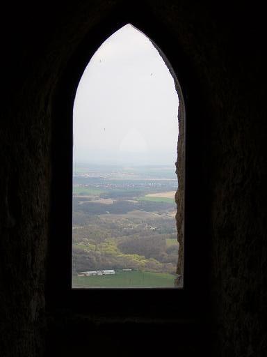 Topolcany castle Window in tower