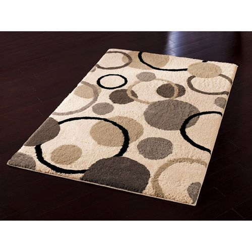 Hometrends Gumball Beige Fleece Area Rug Walmart Com