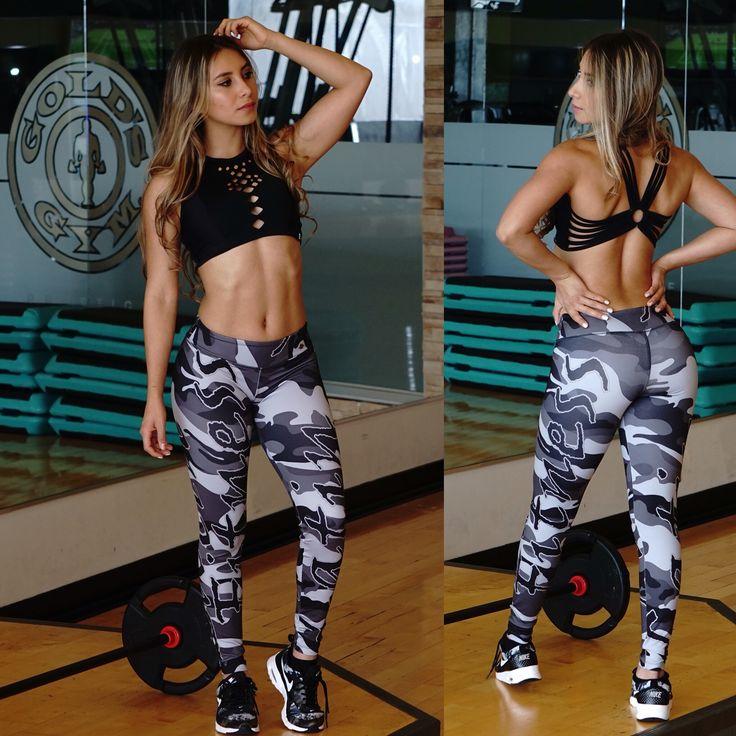 Mode fitness camo-gris