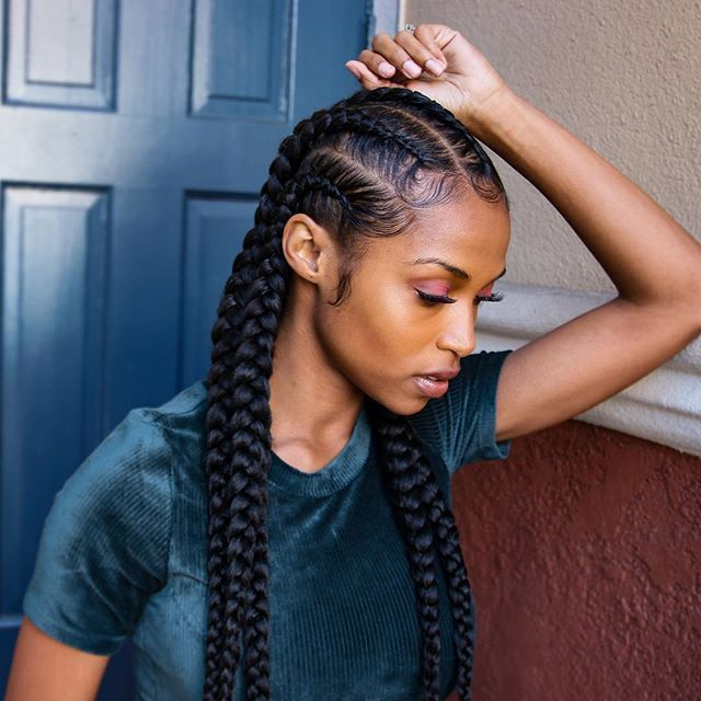 Straight Back Braids Gallery Most Amazing Goddess Braid Hairstyles