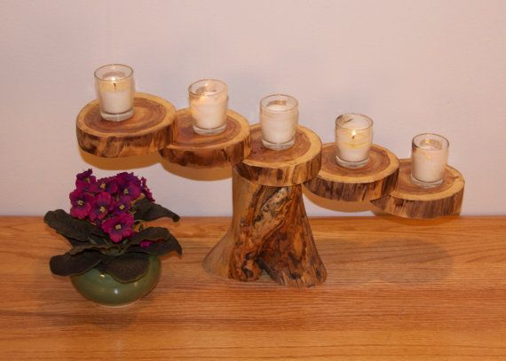 Candle holder  Rustic candle  Floating candle  by AspenSpirit