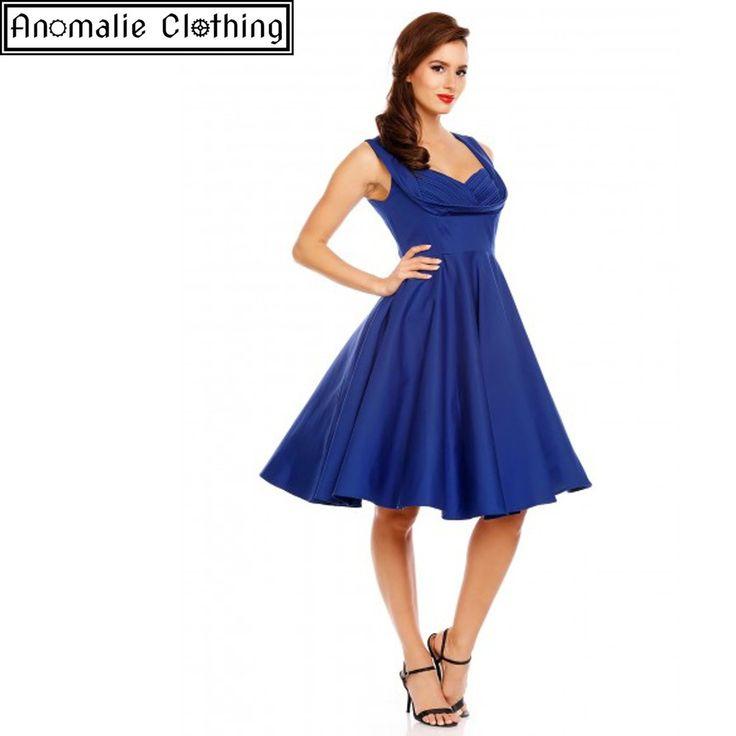 Grace Swing Dress in Sapphire Blue