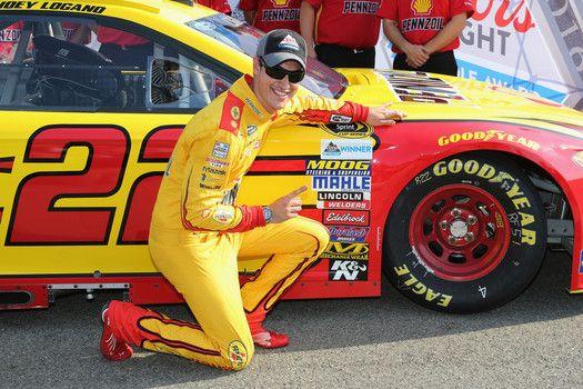 Joey Logano wins the pole at Michigan