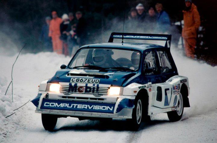 MG Metro 6R4 rally car #MGMetro #Rally