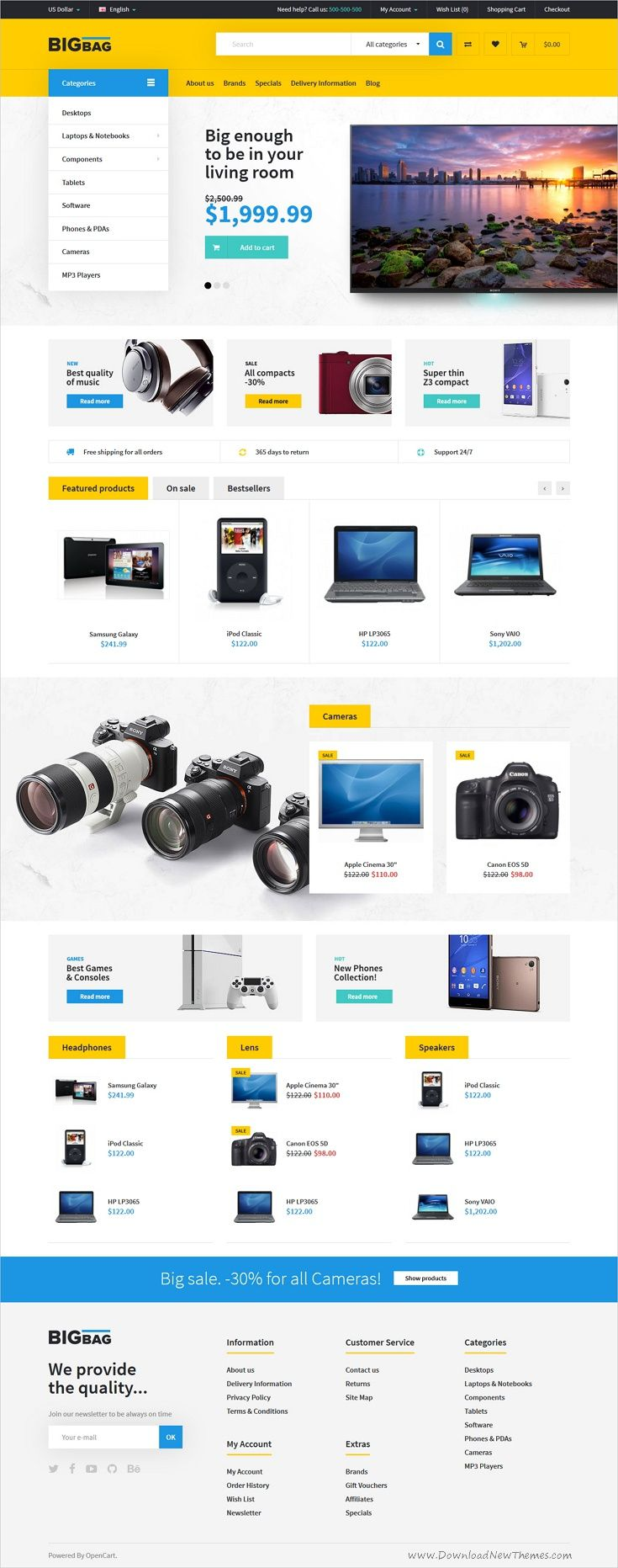 BigBag is an advanced #OpenCart theme for stunning #electronic store #eCommerce website with 5 multipurpose homepage layouts download now➩ https://themeforest.net/item/bigbag-premium-opencart-theme/19458309?ref=Datasata