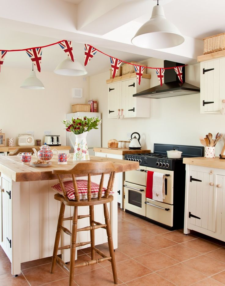 Country kitchen with Union Jack accessories
