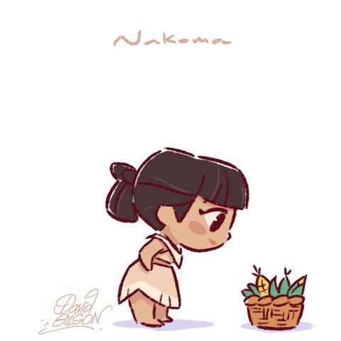 Nakoma (Chibis by PrinceKido @deviantART) #Pocahontas