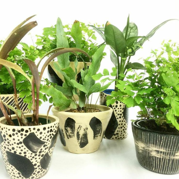 Trade the Mark ceramic planters