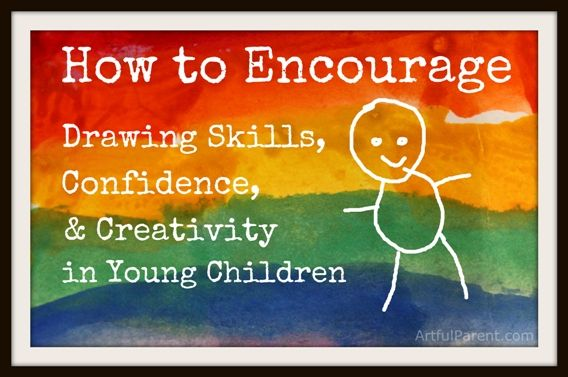 Do you wonder how best to Encourage Drawing Skills, Confidence, and Creativity in Young Children?