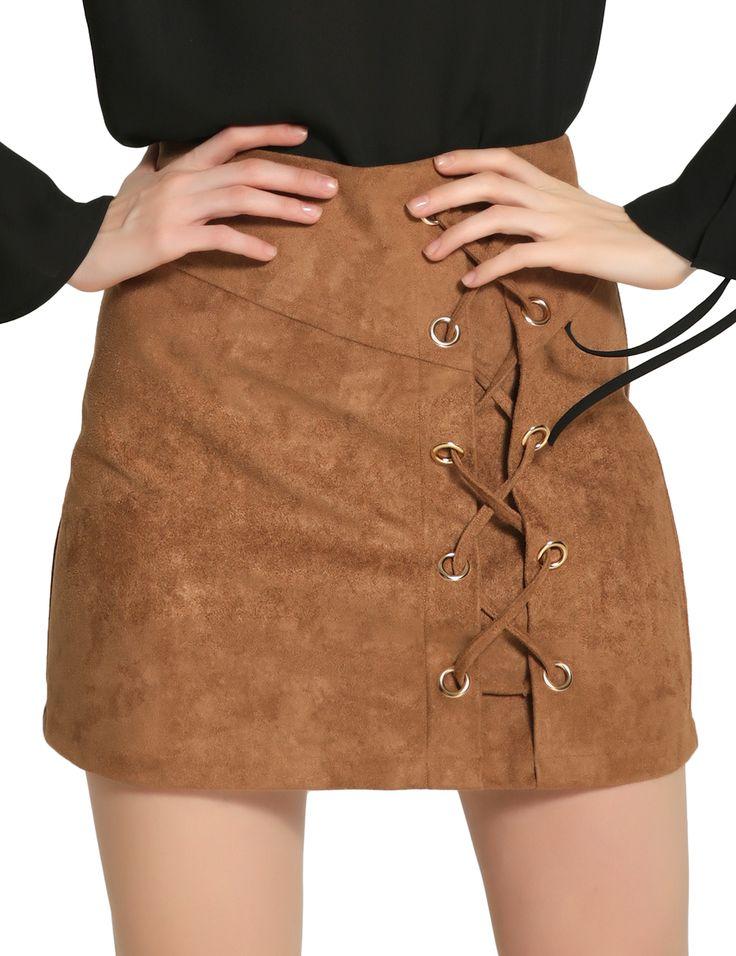 Fashion sexy high waist strap suede bag hip skirt skirt   victoriaswing