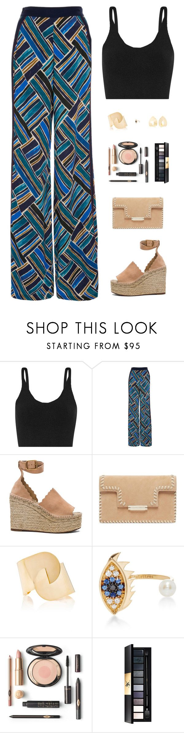 """""""Untitled #4961"""" by mdmsb on Polyvore featuring TIBI, Talitha, Chloé, Delfina Delettrez and Yves Saint Laurent"""