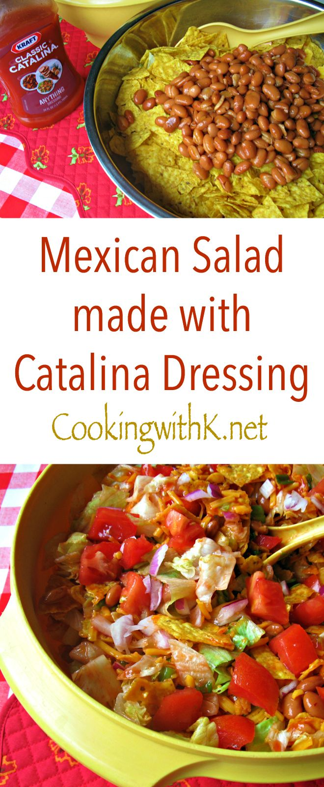 Cooking with K - Southern Kitchen Happenings: Granny's Recipe! Mexican Salad made with Catalina Dressing {Perfect for July 4th!}