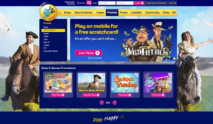 Slots and Games by Gala Bingo  ***Join and download now and get your £30 Slots free play!*** Gala Bingo invites you to 'Play Happy' with a new Slots and Games app offering over 100 top real money casino games, and with 18 jackpot games offering over £10 million there's plenty of scope to win happy! Other highlights include a great range of Video Slots with bumper bonuses and top drawer action with popular classics Blackjack and Roulette.