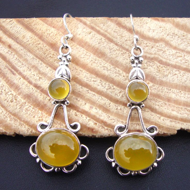 925#Sterling#Silver#Us#Chalcedony#Natural#Gemstone#Pretty#Dangle#Earrings#Women#Free#Shipping http://www.ebay.com/itm/925-Sterling-Silver-Us-Chalcedony-Natural-Gemstone-Pretty-Dangle-Earrings-Women-/112518422476?ssPageName=STRK:MESE:IT