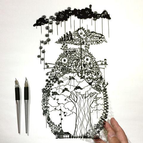 トトロ : 切り絵な夜は芋焼酎 -papercutting blog-