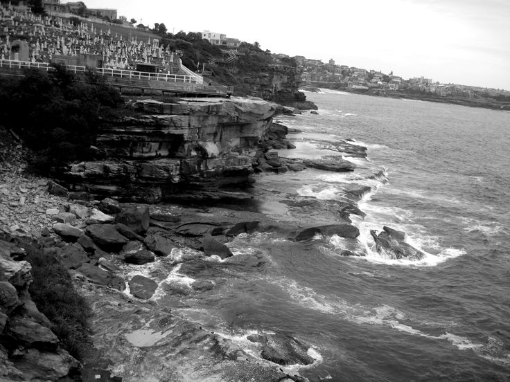 A cementary on the coastal walk of Sydney