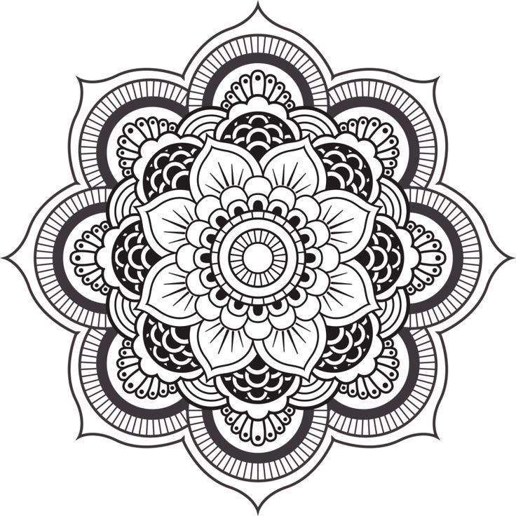 31 best diseos de mandalas images on Pinterest Adult coloring