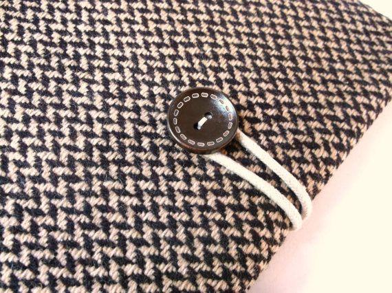 Herringbone Wool Laptop Case Mac Book Pro 13.3 inch by MadeByJulie, $34.99