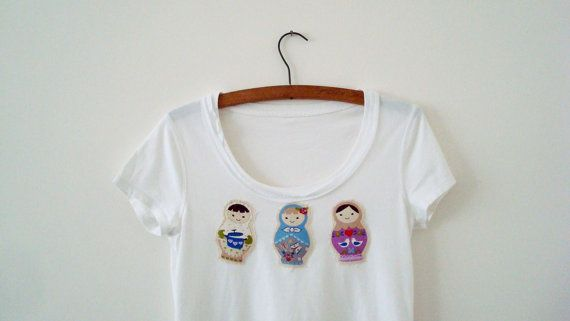 Matryoshka Top Upcycled Woman's Clothing Eco Summer by EkoLuka, $55.00