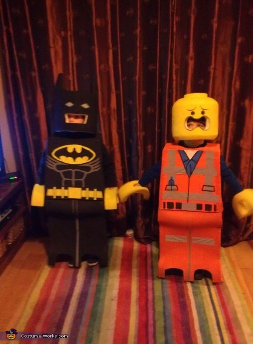 Lego Batman and Lego Emmet - Halloween Costume Contest via @costume_works