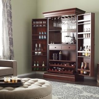 Shop for Ashley Heights Home Bar Wine Cabinet. Get free delivery at Overstock.com - Your Online Furniture Shop! Get 5% in rewards with Club O! - 14938377
