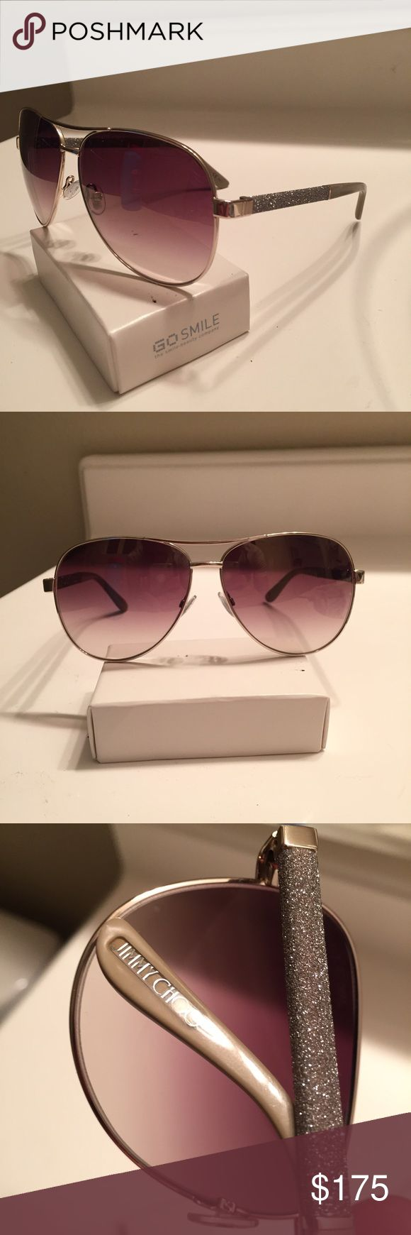 Jimmy Choo Lexie women's aviator sunglasses Store display Jimmy Choo aviator sunglasses in like new condition. No jimmy Choo case but a hard case will be included. Jimmy Choo Accessories Sunglasses