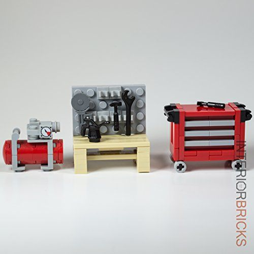 LEGO: Custom Garage Set Collection - with Workbench, Tool Chest and Air Compressor Interior Bricks http://www.amazon.com/dp/B01EH94AMS/ref=cm_sw_r_pi_dp_mFBfxb1NGVFY8