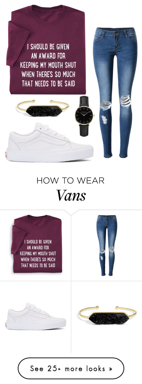 """""""Me In Teen Wolf))Stiles."""" by we-are-teen-wolves on Polyvore featuring WithChic, Vans, ROSEFIELD and BaubleBar"""