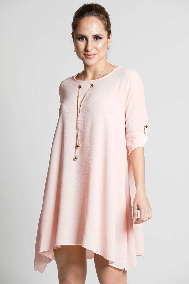 Elisha Shift Dress With Free Necklace Pink