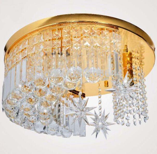 Pas cher moderne k9 cristal de plafond ronde p tale verre lustres de cristais manger abajur sala for Lustre salle a manger pas cher