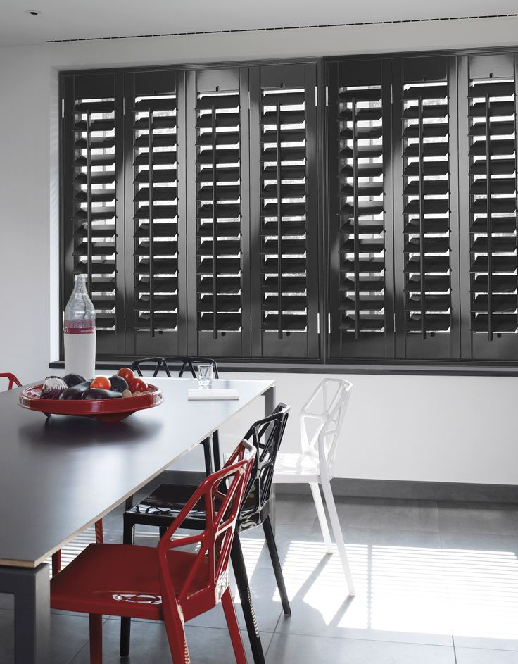 Our Wooden Shutters Look Gorgeous In The Dining Room. #shutters  #woodenshutters #home