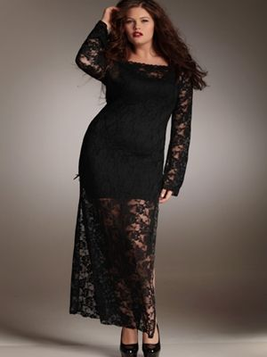 Another hot item for the curvy girl, this fall. Long Stretch Lace ...