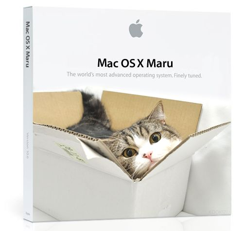 Apple is running out of big cats to use as code names. But Twitter user Kookizu has an elegant idea: OS X Maru, with advanced functions ready to go, right out of the box — assuming you can get it out of the box.