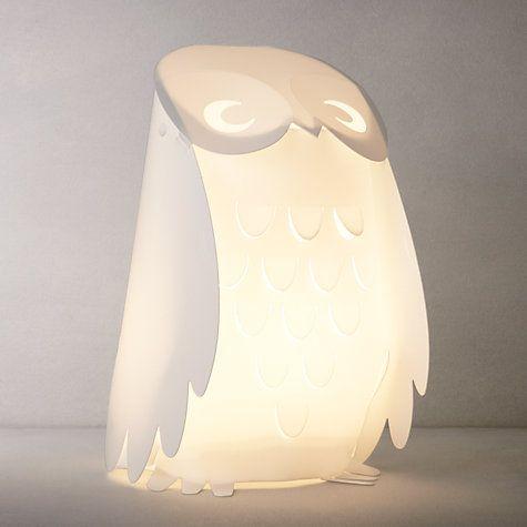 Buy little home at John Lewis Animal Fun Owl Table Lamp Online at johnlewis.com   #SleepSanctuary