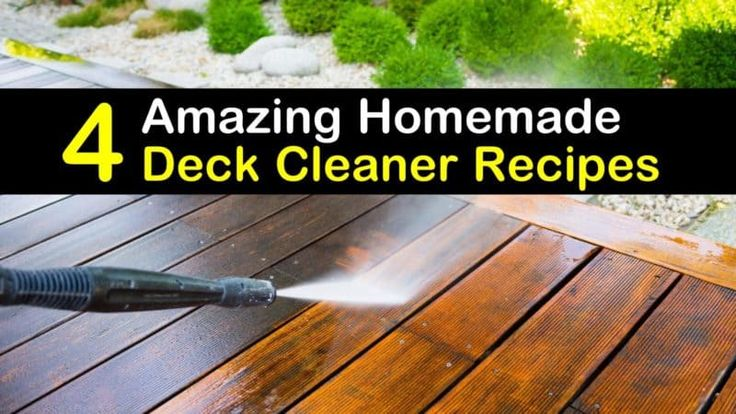 how to make homemade deck cleaner