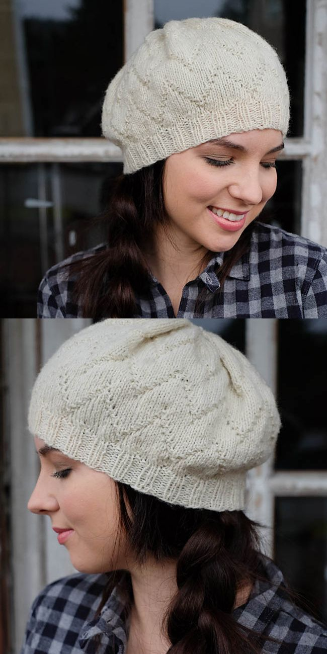 Audrey hat by Jessie Roselyn #knit #hat #texture #beret