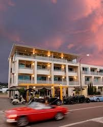 The Crown Hotel in Napier looking fantastic. Picture by Richard Brimmer. Cars supplied by Hooters. www.hooters-hire.co.nz