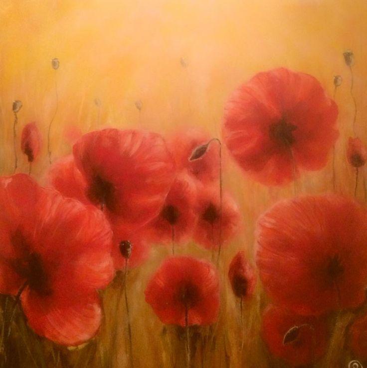 """""""Poppy"""" Acrylic on canvas 60x60 www.ricasso.se"""