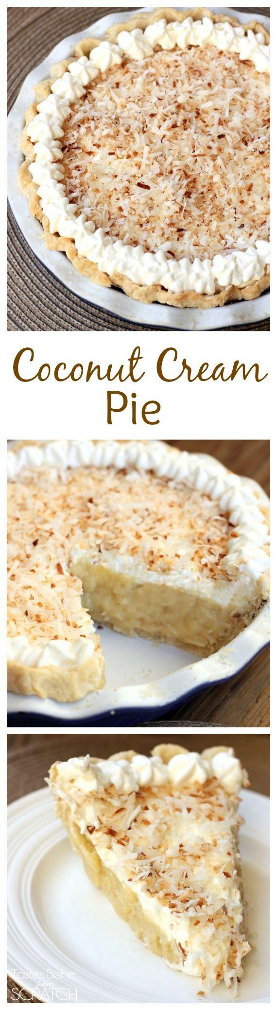 Coconut Cream Pie recipe on MyRecipeMagic.com