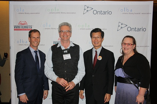 Steven Davidson, Sam Coghlan, Minister Chan, and Beckie MacDonald