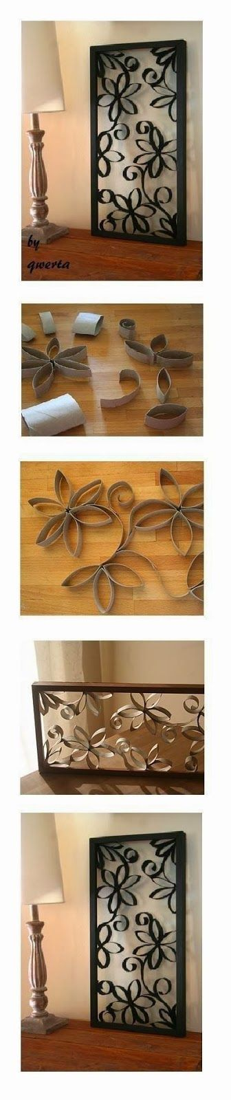 DIY Toilet Paper Roll Wall Decoration  By the use of toilet  paper rolls you can make such beautiful and impressive decoration at  hom...