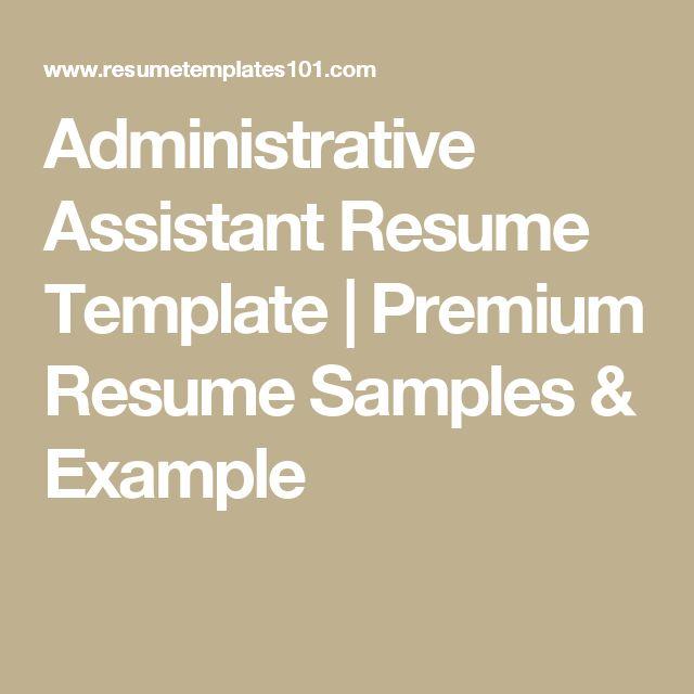 Administrative Assistant Resume Template | Premium Resume Samples & Example