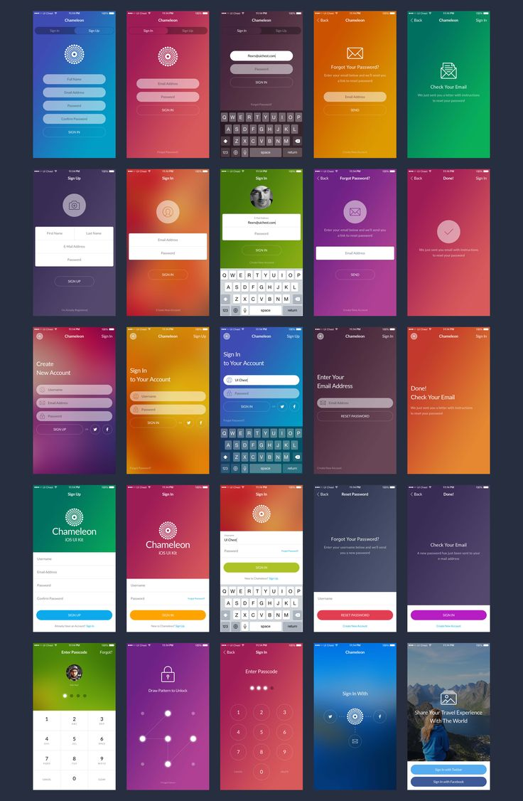 100 app screens, 7 categories, 15 unique themes, 60+ icons and hundreds of neatly organized components for Sketch & Photoshop.  #Mobile #App #UI #UserInterface #UX #UserExperience #Photoshop #Sketch #Design #UIKit
